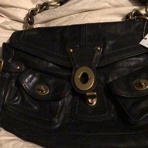 Coach legacy Leigh black bag